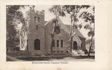 LONGMONT, Colorado CO  PRESBYTERIAN CHURCH  ca 1900's  Postcard