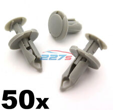 50x 8mm Long Gris Clair Bordure Clips VW T4 & T5 Tapis & Van Doublure