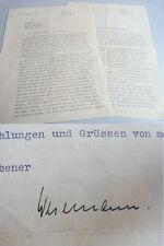 Hans Otto WESEMANN (1903-1986) 2 Briefe BERLIN 1944 an Lehrerin Ida von EYNATTEN