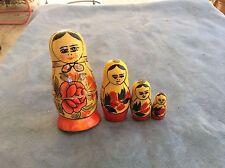 Russian Hand Painted Nesting Doll Matryoshka 4pcs Piece Set