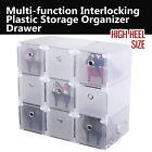 Interlocking Strong Plastic Shoe Box Storage Organizer Drawer - High Heel Size