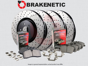 [F&R] BRAKENETIC PREMIUM DRILLED Brake Rotors + POSI QUIET Ceramic Pads BPK92594
