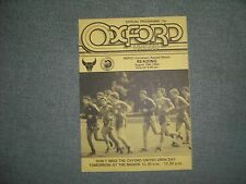 OXFORD UNITED  V  READING  (NSPCC CENTENARY APPEAL)  18-8-84  FOUR PAGER