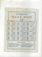 LIVERPOOL DAILY POST CALENDAR  1948