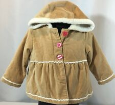 Gymboree Gingerbread Girl 18-24 Months Hooded Jacket Faux Fur Lined $39 Holiday