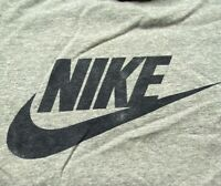 Nike Mens Graphic T-Shirt Gray Black Heathered Spell Out Crew Neck Tee XL