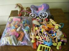 Lot of Many Many Polly Pocket Dolls Clothes Accessories & Princess Coach