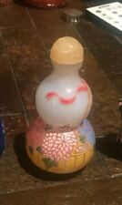 snuff bottle China antique porcelain with raised paint
