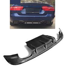 Carbon Fiber Rear Bumper Diffuser Spoiler Lip Kit Fit For Jaguar XE Sedan 15-17