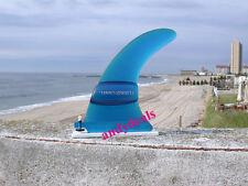 """Turbo Tunnel Fin Blue 8.5"""" Longboard Surfboard Surf New"""