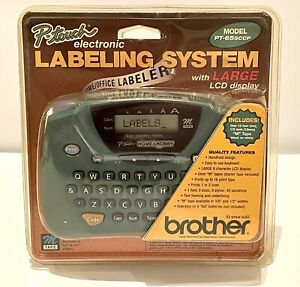 Brother PT-65SCCP Label Thermal Printer P-touch Large LCD Display