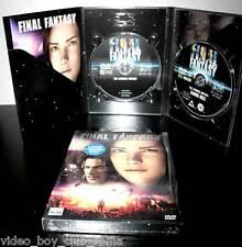 FINAL FANTASY COFANETTO COME NUOVO 2 DVD VERSIONE ITALIANA FILM ADATTO A TUTTI