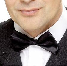 Hombre pajarita pajarita negro para disfraz pajarita & Tira NUEVO por Smiffys