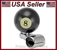 NEW 8-BALL CAR STEERING WHEEL SPINNER HANDLE AUTO OR TRUCK SUICIDE POWER KNOB