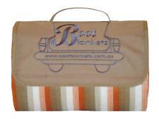 BOOT BLANKETS New Modern Waterproof Picnic Blanket Lge (Beige)