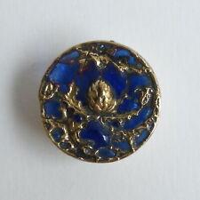 Bouton ancien - Plique-à-jour - 18 mm - 1900's - Plique-a-jour Enamel Button