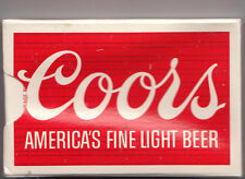 "Coors Americas Fine Light Beer Playing Cards ""Sealed Deck"" Plastic Coated"
