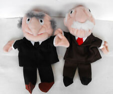 RARE Disney MUPPETS Statler and Waldorf Hand Puppets MINT The Netherlands