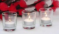 200 Clear 6cm Glass Tealight Votive Candle Holder wedding event party BULK Buy