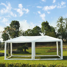 10 x 20ft Canopy Gazebo Party Tent sun shelter Easy Set w/ Mesh Mosquito Netting