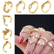 7pcs of Set Women's Popular Bowknot Knuckle Midi Mid Finger Tip Stacking Rings