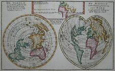 De wareld ... -Keizer / Delisle / de Laet 1788 -World map in 2 projections -Rare