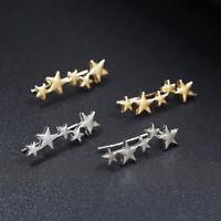 Women Stars Ear Climber Unique Crawler Stud Silver Gold Earrings Fashion G