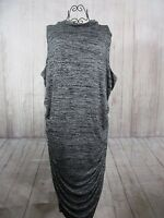 Womens Boutique Sheath Sleeveless Stretch Dress Heathered Gray Lined Size 3X