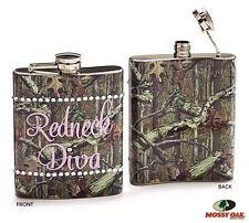 Mossy Oak Liquor HIP Flask REDNECK DIVA Hunting Redneck or Country Party Girls
