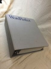 BOOK ONLY Vintage Binder Workbook for WordPerfect for IBM PCs Manual Only