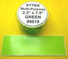 "6 Rolls 2 5/16"" x 7 1/2"" Green Labels fit ZEBRA 2844, 450 - USA Made & BPA Free"