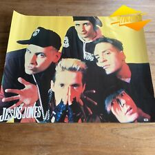 VINTAGE 1990'S JESUS JONES GENUINE EMI RECORDS POSTER RIGHT HERE RIGHT NOW