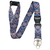 Multicolour ETHNIC FLORAL Lanyard Neck Strap With Card/Badge Holder or Key Ring