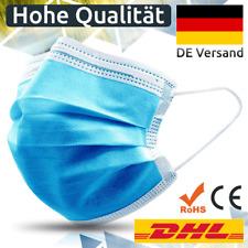 50 Stk Medizinische Einweg Schutzmaske Mundschutz OP-Maske 3-lagig Atemschutz CE