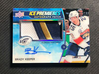2019-20 UPPER DECK ICE BRADY KEEPER ROOKIE PREMIERES AUTO PATCH IP-BK #ed 7/10
