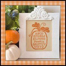 30% Off Little House Needleworks X-stitch chart-Pumpkin Alphabet w/silk thread