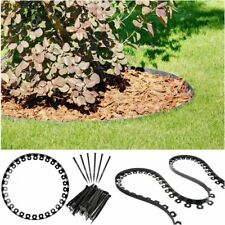 Garden Border Lawn Grass Flexible Edging Plastic  Easy Install 3 Colors