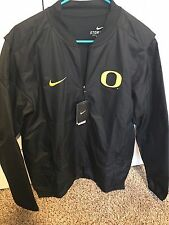 NWT New Oregon Ducks Nike Quarter Zip Lockdown Black Jacket Size Large