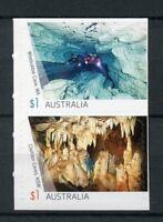 Australia 2017 MNH Caves Weebubbie Cliefden Cave 2v S/A Set Tourism Stamps