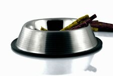 Bergan Stainless Steel Non-Skid Non Tip Pet Bowl with Ridges 1 - 2 - 4 - 6 Cup