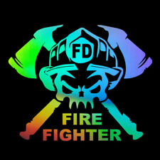 FIRE FIGHTER Car Sticker Vinyl Truck Laptop Window Bumper Motorcycle Wall Decal