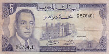 Morocco : 5 Dirhams 1970 (1390) Hassan II ( Fine )