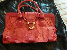 Charlie Lapson Red Bag With Original Tag & Bag ~ Red ~ See Description