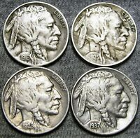1916 1925-S 1929 1937 Buffalo Nickel Lot ---- #G567
