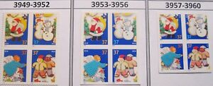 Holiday Cookies Complete Set 3 Blocks of 4 in Scott # Order MNH Sc 3949 to 3960