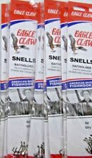 72 Original Snelled Eagle Claw 139's Bait Holder BaitHolder Fishing Hooks Size 4