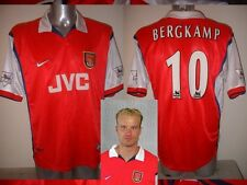 Arsenal BERGKAMP Shirt Jersey football Soccer Nike L Holland Highbury Ajax JVC