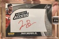 2018-19 Panini Instant Access Troy Brown Jr Washington Wizards RC Auto 1/1