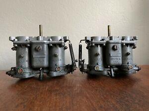 Porsche 356 C SC S90 Solex 40 PII-4 Carburetor Pair SOLID SHAFT
