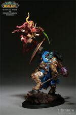 Warcraft Statue Blood Elf Rogue VS Draenei Paladin Diorama SIDESHOW
